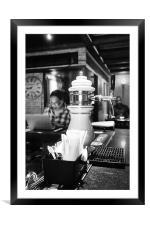 Moody Blues Bar, Framed Mounted Print