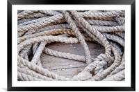 Rusted Boating Rope, Framed Mounted Print