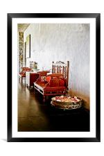 Indigenous Seating Style India, Framed Mounted Print