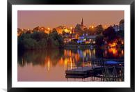 Life on the Riverbank, Framed Mounted Print