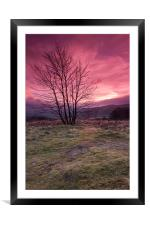 Red Sky in the Morning, Framed Mounted Print