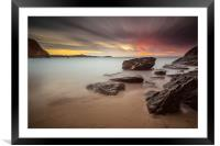 Lust Glaze Cove at Sunset - Long Exposure, Framed Mounted Print