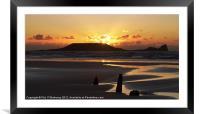 Golden sunset, Framed Mounted Print