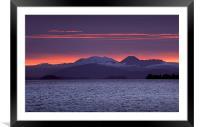 Lake Taupo Sunset, Framed Mounted Print
