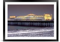 Snowy Brighton Pier, Framed Mounted Print