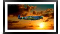 SPITFIRE MH434, Framed Mounted Print