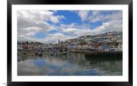 BRIXHAM HARBOUR                            , Framed Mounted Print