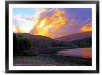 Loch a Choire sunset                           , Framed Mounted Print