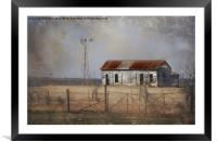 Homestead in Dust Storm, Framed Mounted Print