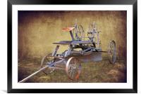 Antique Road Grader, Framed Mounted Print