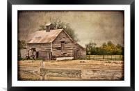 Weathered Barn, Framed Mounted Print