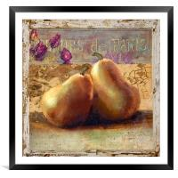 Two Pears Still Life, Framed Mounted Print