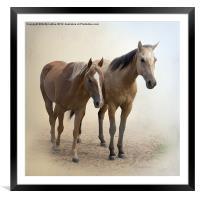 Just Us Two, Framed Mounted Print