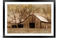 American West Barn, Framed Mounted Print