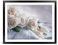 A Spill of Roses, Framed Mounted Print