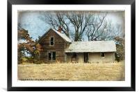 Old Abandoned Farm House, Framed Mounted Print