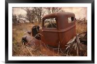 Where Old Trucks Go To Die, Framed Mounted Print