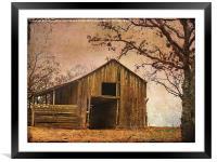 Vintage Wood Barn, Framed Mounted Print