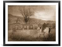Ghost Town #2, Framed Mounted Print