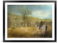 Ghost Town #1, Framed Mounted Print