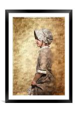 The Pioneer Girl 2, Framed Mounted Print