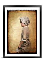 Pioneer Girl, Framed Mounted Print