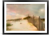 Sunrise on the beach, Framed Mounted Print