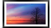 When Day Kisses Night, Framed Mounted Print