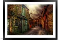 Witney Backstreets, Framed Mounted Print
