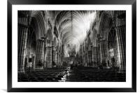 Exeter Cathedral, Framed Mounted Print