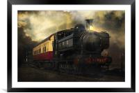 Night Train, Framed Mounted Print