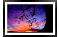 January Sunrise, Framed Mounted Print