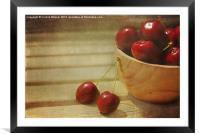 Life is a Bowl of Cherries, Framed Mounted Print