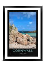 Cornwall Railway Poster, Framed Mounted Print