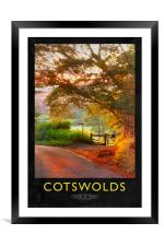 Cotswolds Railway Poster, Framed Mounted Print