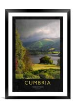 Cumbria Railway Poster, Framed Mounted Print