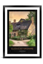 Gloucestershire Railway Poster, Framed Mounted Print
