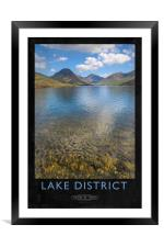 Lake District Railway Poster, Framed Mounted Print