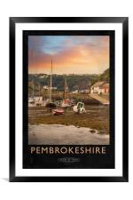 Pembrokeshire Railway Poster, Framed Mounted Print