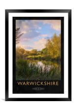 Warwickshire Railway Poster, Framed Mounted Print