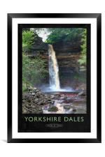 Yorkshire Dales Railway Poster, Framed Mounted Print