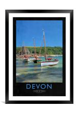 Devon Railway Poster, Framed Mounted Print