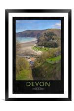Devon, Framed Mounted Print