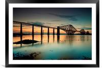 Forth Rail bridge sunset, Framed Mounted Print