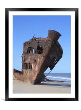 Ship Wreck., Framed Mounted Print