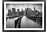 Gotham City New York City, Framed Mounted Print