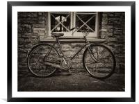 The Old Vintage Bicycle, Framed Mounted Print