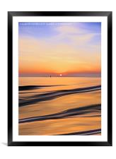 Sunset in the Bay, Framed Mounted Print