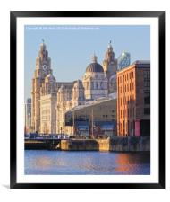 World famous Three Graces, Framed Mounted Print