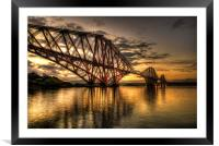 Sunrise over the bridge, Framed Mounted Print